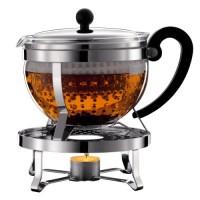 zum Angebot Teekanne Bodum K11143-16 Chambord Set Teebereiter mit Plastikfilter 1,5 L