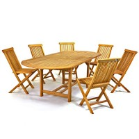 zum Angebot Gartengarnitur DIVERO Gartenmöbelset Sitzgruppe Teakholz
