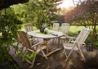 zum Angebot Gartengarnitur SAM® Teak Holz Gartengruppe Gartenmöbel Aruba XL 7 tlg