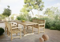 zum Angebot Gartengarnitur SAM® Teak Holz Gartengruppe Gartenmöbel Kuba 4 tlg