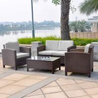 zum Angebot Gartenlounge Lounge Set Gruppe Garnitur Gartenmöbel 13tlg. Deluxe