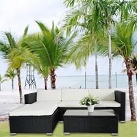 zum Angebot Gartenlounge POLY RATTAN Lounge Schwarz Polyrattan