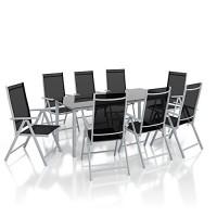 zum Angebot Gartenmöbel-Set Alu Sitzgarnitur Gartenmöbel Set 9-teilig