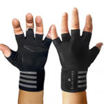 zum Angebot BLACKROX Sporthandschuhe Fitness Handschuhe mit Handgelenkstütze Herren u. Damen