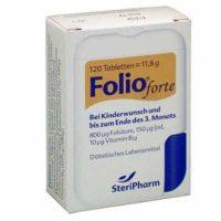 tarjoukseen Foolihappo FOLIO forte -tabletit 800 B12-vitamiinia ja jodia