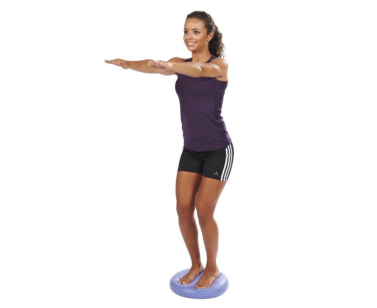Queiting Balance Kissen Massagekissen Verdicktes Antidynamisches Balance Kissen Geeignet F/ür Yoga Und Pilates Mit Pumpe