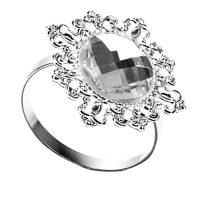 zum Angebot Serviettenringe 12 Stück Serviette Halter Wedding Banquet Dinner Dekor gefallen Silber