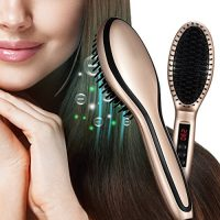 zum Angebot Glättbürste Stylingbürste, HoLife Elektrische Haarglätter keramik Bürste Glätteisen