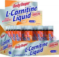 tarjous L-karnitiini Weider Liquid 1,800, persikka, 1 pakkaus (20x 25ml)