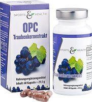 tarjoukseen rypäleensiemenuutetta OPC-kapselit, suuri annos - todistuksella - ILMAN keinotekoista C-vitamiinia