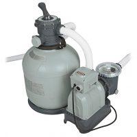 zum Angebot Sandfilteranlage Intex Krystal Clear 10 m³, Grau, 9.200 l/h / 650 W / 230 V