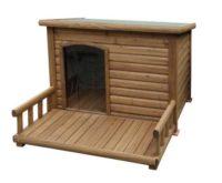 zum Angebot Hundehütte Kerbl mit Terrasse, 113 x 127 x 83 cm