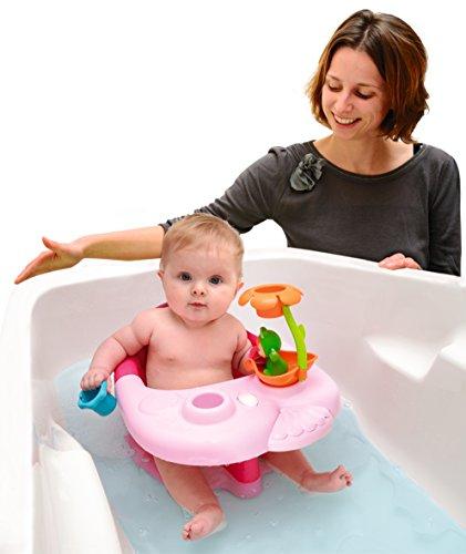 Baby Badesitz Mit R/ückenlehne St/ütze Klappbarer Badewannensitz Kindersicherung 6-18 Monate 15kg 28,3 x 38,5 x 16,3 cm Chuanfeng Baby Badewannensitz Bis Max