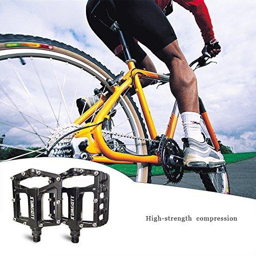 Fahrradpedale Mountainbike Pedale - SUMGOTT MTB Pedale Auftrittsfläche aus Aluminium