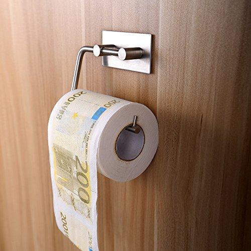 WC-paperipidike ilman porausta Vanten ruostumattomasta teräksestä valmistetun WC-paperin pidikkeen itseliimautuva