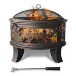 zum Angebot Feuerschale Stahl 66cm Feuerstelle schwarz Klassik