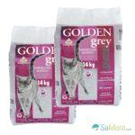 zum Angebot Katzenstreu pet-earth Golden Grey Master mit Babypuderduft 2x14kg