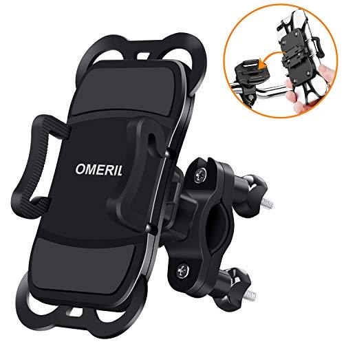 Handy Halterung Fahrrad Handyhalterung Fahrrad Abnehmbare OMERIL 360° Drehbare Motorrad Handyhalterung Universal für iPhone X/ Xr/ Xs/ 8/ 7/ 6 Plus, Samsung Galaxy S8/S9/S10/A5, Huawei P30/P20 und alle 3,5-6,5 Zoll Handys