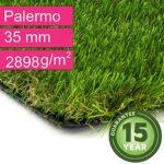 zum Angebot Kunstrasen – Kunstrasen.de Palermo Garten – höhe 35 mm – UV-Garantie