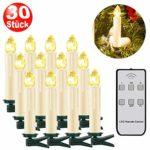 zum Angebot Christbaumkerzen Kabellos SZILBZ 30Stk LED Kerzen Fernbedienung