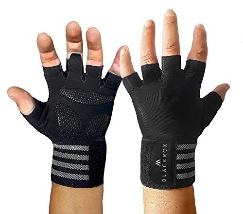 BLACKROX Trainingshandschuhe Vergleichssieger Fitness Handschuhe mit Handgelenkstütze Herren u. Damen, Handschuhe für Kraftsport, Gym Gloves Fitnesshandschuhe, Bodybuilding