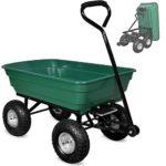 zum Angebot Gartenwagen Deuba 300 kg Kunststoff Kippfunktion Muldenkipper