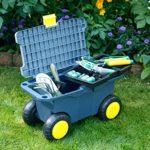 zum Angebot Fahrbarer Gartensitz Gärtner Pötschke mit Werkzeugkiste