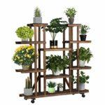 zum Angebot Pflanzenregal Yaheetech Blumenregal Holz 6 Ebenen