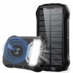 zum Angebot Powerbank Solar GRDE 26800mAh QI Wireless