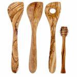 zum Angebot Kochlöffel Holz OneWess Kochbesteck Olivenholz