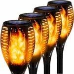 zum Angebot Gartenfackel Solar Swonuk 4 Flammenlichter
