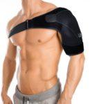 BLACKROX Schulterbandage (OMONROX), Kälte- und Wärmekompression, Schulterstützbandage, arthritische Schulter, aus Neopren, Unisex, für rechts und links, größenverstellbar