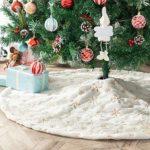 zum Angebot Weihnachtsbaum Rock Deggodech 90cm Weiß Plüsch